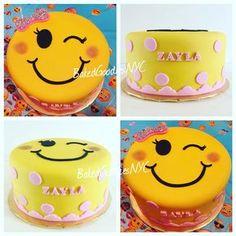 Resultado de imagen para cumpleaños de emoji ideas Emoji Theme Party, 13 Birthday Cake, Birthday Bash, Foto Pastel, Emoji Cake, Different Cakes, Girl Cakes, Cake Creations, How To Make Cake