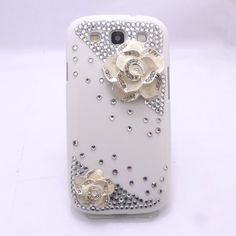 For Samsung Galaxy S3 III I9300 White 3D Bling diamond crystal Flower Case Cover  Best item ever seen, with very good price! Recommend!