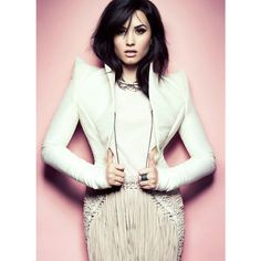 Demi Lovato Is Snapped By Chris Nicholls As She Stars In Fashion... ❤ liked on Polyvore featuring demi, demi lovato and people