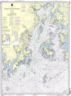 NOAA Nautical Chart 13302: Penobscot Bay and Approaches