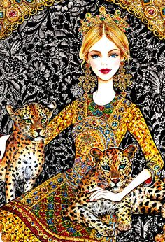Fashion Illustration 'Every girl is the queen of her World' by sunny gu