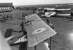 No. 1 Squadron, a unit of the Australian Flying Corps, in Palestine in 1918. (James Francis Hurley/State Library of New South Wales)
