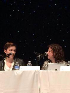 Veronica Roth and Rae Carson at YALLFEST - via Kami Garcia