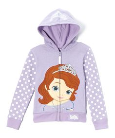 Look at this Lilac Sofia the First Zip-Up Hoodie - Toddler  amp  Girls a86a71330