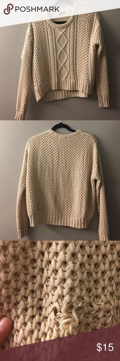 Spotted while shopping on Poshmark: Cream colored crochet knit sweater! #poshmark #fashion #shopping #style #BDG #Sweaters