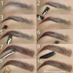 Make Up; Make Up Looks; Make Up Augen; Make Up Prom;Make Up Face; Makeup Steps Source by kayceenjax Eyebrow Makeup Tips, How To Do Makeup, Makeup Guide, Skin Makeup, Eyeshadow Makeup, Makeup Eyebrows, Drawing Eyebrows, Makeup Brushes, Eye Brows