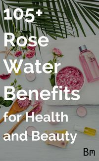 Rose water has over 105 benefits and is known as 'nature's magic potion' for a reason. With benefits for hair, skin and more, it works great for everyone. Essential Oil Uses, Natural Essential Oils, Diy Skin Care, Facial Skin Care, Organic Skin Care, Natural Skin Care, Natural Beauty, Natural Makeup, Organic Makeup