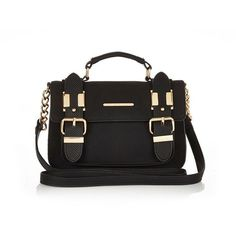River Island Black faux-suede mini satchel handbag ($44) ❤ liked on Polyvore featuring bags, handbags, river island, black satchel bag, black purse, imitation purses, imitation handbags and mini handbags