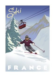 Vintage Travel Poster - Winter Sports - France