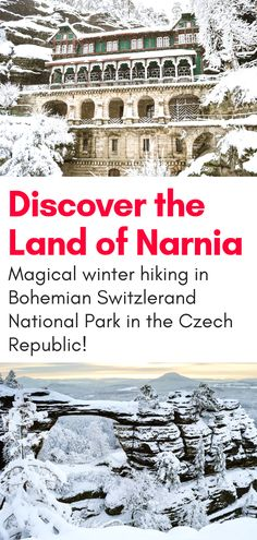 Magical Winter Hiking in Narnia – Bohemian Switzerland National Park in the Czech Republic is the perfect day trip from Prague. Winter hiking to this magical park affords visitors snow covered sites from the Narnia movie and more! Winter Hiking, Winter Travel, Narnia, Hiking Europe, Travel Europe, Croatia Travel, Italy Travel, Day Trips From Prague, Prague Winter