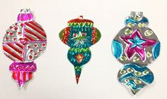 Tooled Metal Ornaments, gr.4