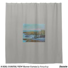 A REAL COASTAL VIEW Shower Curtain