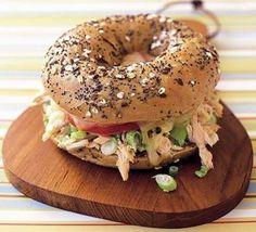 I love melt sandwiches and this Seeded Bagel Tuna Melt looks absolutely delicious Tuna Melt Recipe, Bagel Recipe, Bbc Good Food Recipes, Cooking Recipes, Healthy Recipes, Bagel Fillings, Low Carb Bagels, Bagel Sandwich, Sandwich Ideas