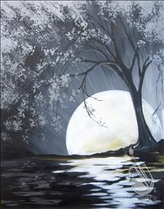 "Join us for an evening of fun and paint your own ""Moon River"" Thursday Jan, 21 at 7pm."
