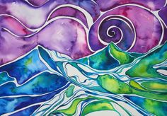 seascape water color by snowseychelle: great inspiration for us!