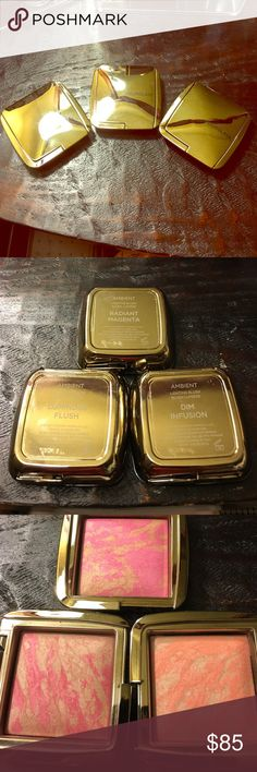 """Hourglass blushes! Barely used, """"Luminous Flush"""" """"Radiant Magenta"""" """"Dim infusion"""" buy them all or ask me to buy them individually ;) hourglass Makeup Blush"""