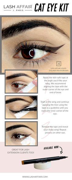 5df76fdca9d Available now at www.lashaffair.com Perfect Cat Eye, Eyeliner Pen,  Eyeshadow. Lash Affair