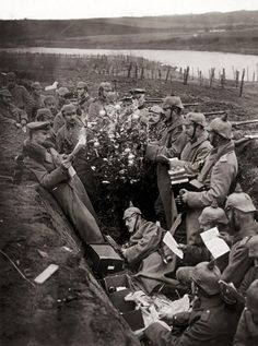 It happened on christmas day, 1914: German and British troops  held a temporary ceasefire, the 'Christmas Truce'. Exchanged greetings,  sang carols, soccer matches, decoration of a tree in the German trench A Polar Bear's Tale