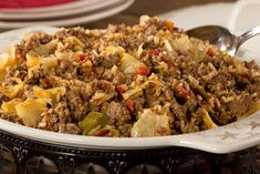 Our Beefy Cabbage Skillet is a hearty dish that comes together in just one skillet! One bite of this comforting and flavorful all-in-one meal will result in smiles all around. (Even non-cabbage lovers will love it! Diabetic Recipes, Low Carb Recipes, Cooking Recipes, Healthy Recipes, Diabetic Foods, Skinny Recipes, Easy Recipes, Beginner Recipes, Cooking Gadgets