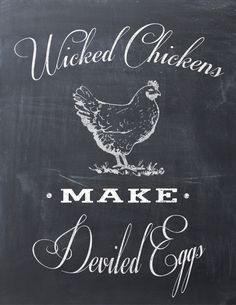5 Favorite Printables including this Wicked Chickens make Deviled Eggs Printable for your kitchen!