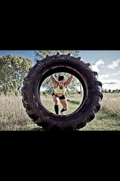 """To me, exercise is """"Alternate Medicine"""" Burn Rubber! (and Fat), Hardcore """"Tire Flipping"""" Exercises.I tried it and I loved it, a brutal workout (brutal in a good way) Tire Flipping Workout, Tire Workout, Crossfit Photography, Fitness Photography, Photography Ideas, Senior Fitness, Fitness Tips, Gym Photos, Fitness Photoshoot"""