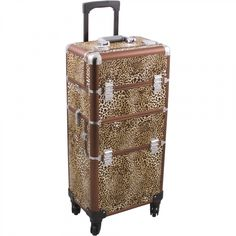 New Hiker Rolling Makeup Case Easy-Slide Extendable Trays, Includes Removable Tray Extra Lid, Leopard Texture online shopping - Utobuynew Rolling Makeup Case, Makeup Train Case, Brown Leopard, Cheetah, Print Finishes, Cosmetic Case, Makeup Collection, Makeup Yourself, Makeup Cosmetics