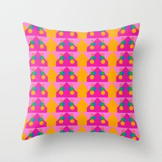 Orange Pattern Pillow Cover by BacktoBasicsPillows on Etsy