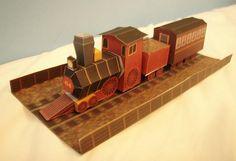 Kalimari's Desert Train Paper Model - by Nintendo Papercraft    ==        From Nintendo`s Mario Kart 64 videogame, here is the Kalimari's Desert Train in a nice paper version, from Nintendo Papercraft website.