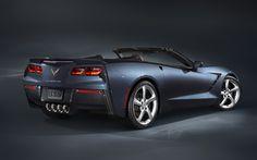 Night Race Blue C7 Corvette convertible