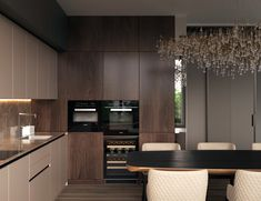 Open Plan Kitchen Living Room, Kitchen Room Design, Luxury Kitchen Design, Bathroom Design Luxury, Kitchen Cabinet Design, Interior Design Kitchen, Kitchen Decor, Fancy Kitchens, Contemporary Home Decor