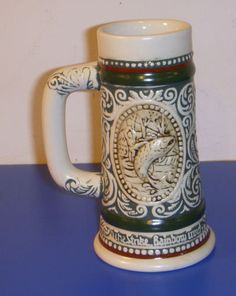 Avon-Products-Mini-Stein-At-Point-English-Setter-The-Strike-Rainbow-Trout-1983