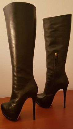 Brown High Heel Boots, Thigh High Boots Heels, Black High Heels, Black Boots, Knee Boots, Heeled Boots, Bootie Boots, Sexy Boots, Hot Shoes
