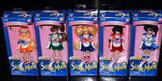 Sailor Moon Venus Jupiter Mercury Mars 6 inch adventure doll set lot Bandai 1995 #Bandai