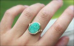 Turquoise Druzy Statement Ring