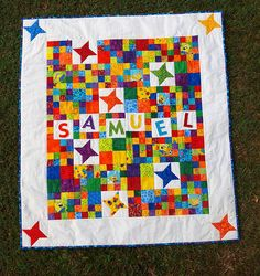Really cute kid quilt!