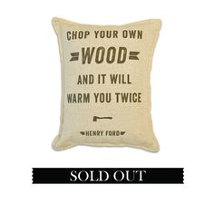 Flint and Tinder - Proudly Made in America | Balsam Pillow - Men's Shop