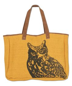 Love this Karma Amber Owl Tote by Karma on #zulily! #zulilyfinds