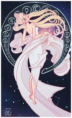 Sailor Moon - Alphonse Mucha hybrid by Dixie Leota // dixieleota