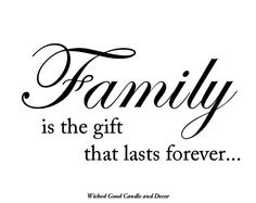 Vinyl Wall Decal 24x12  Family is the gift that by WickedGoodDecor, $14.95