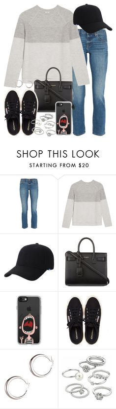 """Sin título #4136"" by hellomissapple ❤ liked on Polyvore featuring Madewell, Vince, Keds, Yves Saint Laurent, Casetify, Henri Bendel and Candie's"