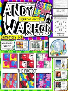 - Teach Pop Art to your elementary students with this Andy Warhol lesson. This presentation includes a colorful PowerPoint with images by Andy Warhol. The scripted Andy Warhol PowerPoint is designed to be easily understood by your younger artist. Andy Warhol Pop Art, Pop Art Poster, Poster Print, Classroom Art Projects, Art Classroom, Famous Artists For Kids, Artist Project, 3rd Grade Art, Ecole Art