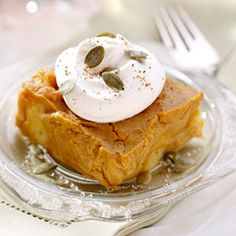 *Spiced Pumpkin Bread Pudding Recipe...after you click on the pin, put the title of this recipe in the search bar.
