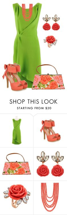 """""""Untitled #1129"""" by marisol-menahem ❤ liked on Polyvore featuring Oscar de la Renta, JY Shoes, Glenda Gies, Mawi and Madison Parker"""