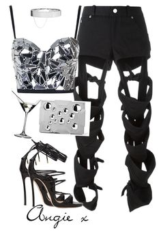 A fashion look from September 2016 featuring cropped bustier, Nasir Mazhar and black high heel sandals. Browse and shop related looks. Kpop Fashion Outfits, Stage Outfits, Edgy Outfits, Mode Outfits, Cute Casual Outfits, Retro Outfits, Dance Outfits, Mode Kpop, Bts Inspired Outfits