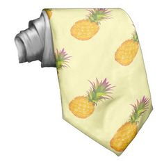 Pineapples - Tropical Cream Tie