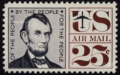 Abraham Lincoln (1809-1865). 16th President Of The United States. On A U.S. Postage Stamp, 1960