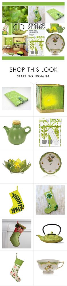 """""""Meet Greenery, Pantone's 2017 Color of the Year!"""" by yours-styling-best-friend ❤ liked on Polyvore featuring Cultural Intrigue, Heath Ceramics, Jangneus, Herend, NOVICA, Cost Plus World Market, Old Dutch and Home Decorators Collection"""