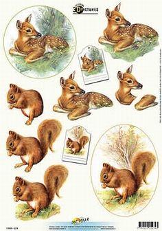 knipvellen - Поиск в Google Christmas Sheets, 3d Christmas, Christmas Images, Scrapbook Paper Crafts, Scrapbook Cards, Image Stitching, Image 3d, Decoupage Printables, Cut Animals