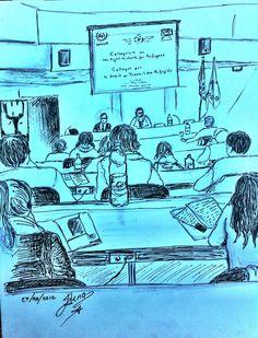 Schizzi di riunione, seminario sui rifugiati 2012