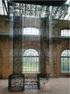 Suspended Charcoal Installation Art
